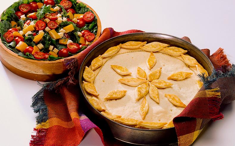Empadão de frango e milho verde