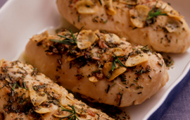 Peito de frango com alecrim