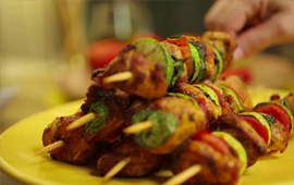 Kebabs picantes