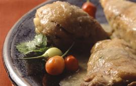 Peito de frango com ervilha torta