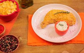 Tapas crocantes ao molho gorgonzola