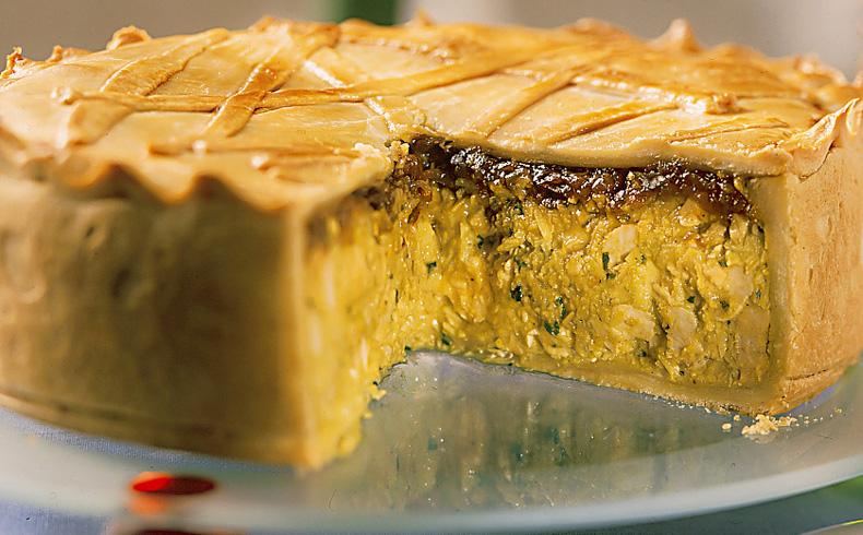 Torta de frango e curry (caril)
