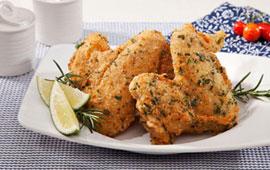 Asas crocantes de frango