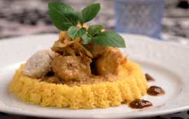 Cuscuz marroquino com frango ao curry
