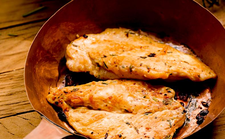 Filé de frango com creme de milho