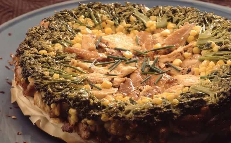Torta invertida de frango