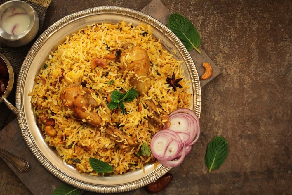Galinhada com arroz sete grãos