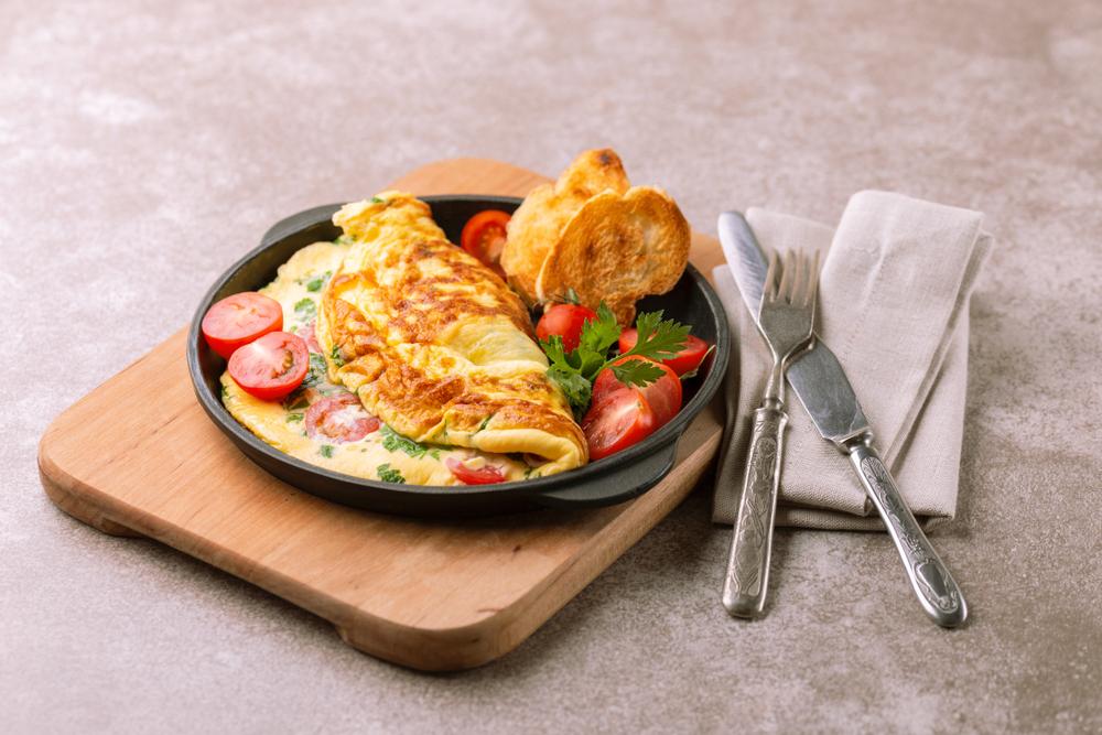 Omelete de frango no liquidificador
