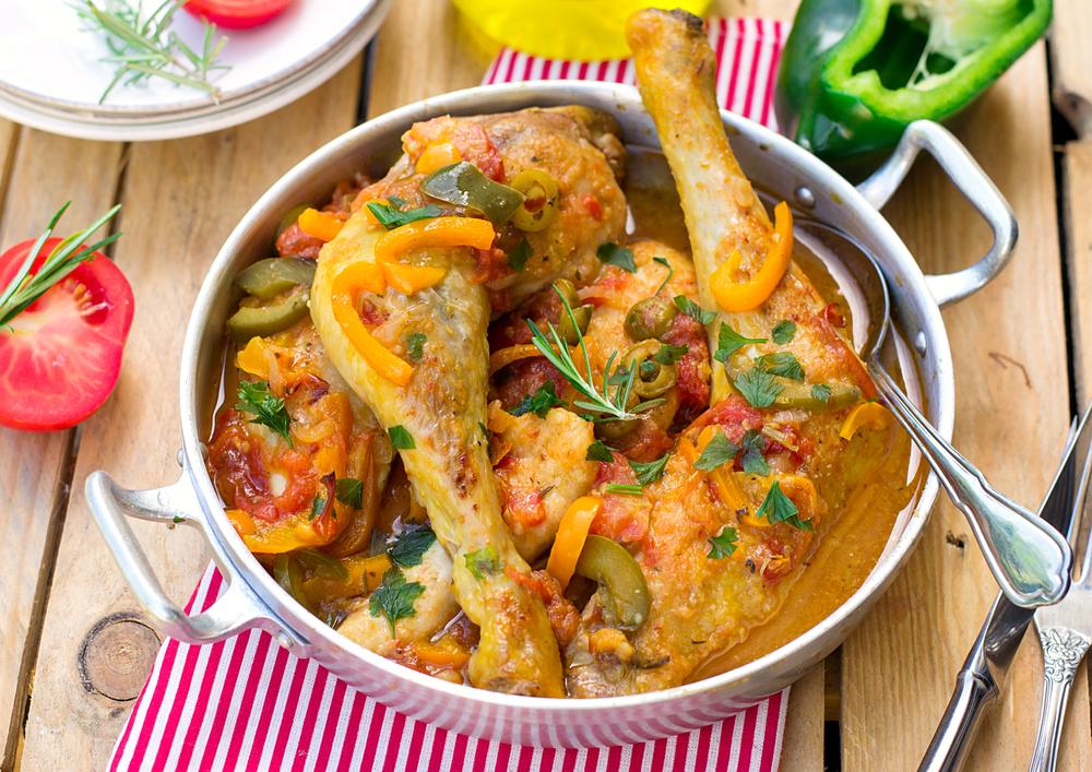 Estufado de frango com arroz de forno (receita portuguesa)