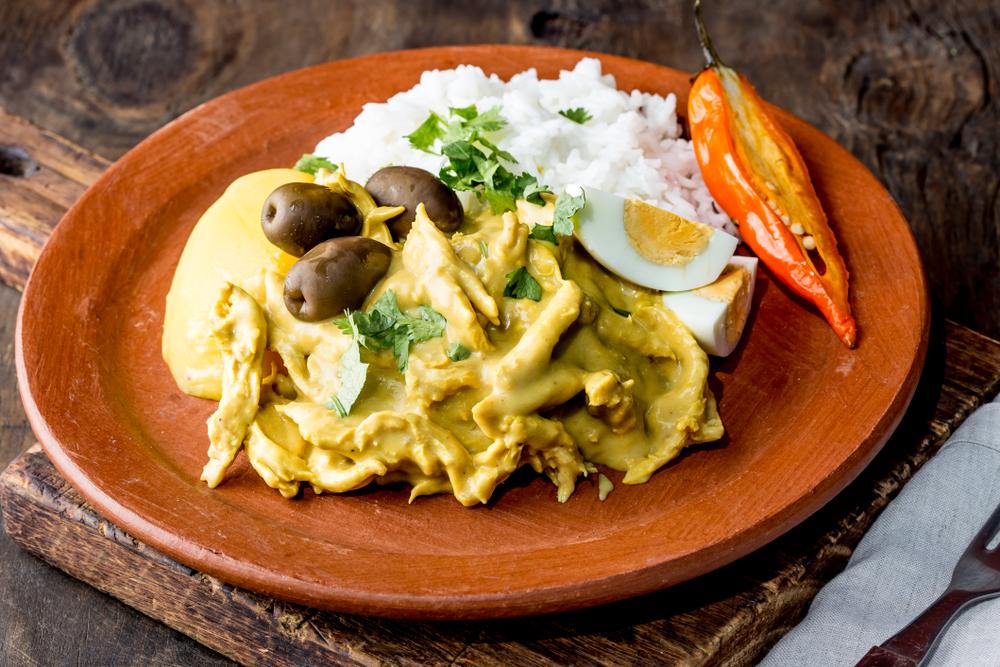 Frango Cremoso Peruano (Ají de frango)