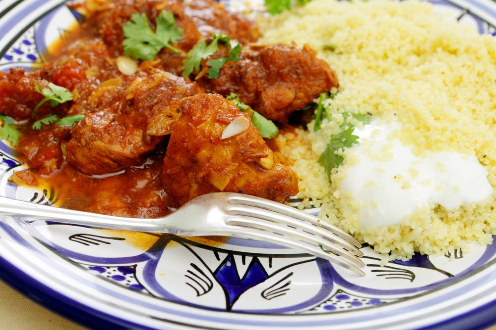 Frango marroquino com cuscuz de sêmola